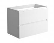 LIVO Wastafelonderbouw 80 cm lades - Glanzend gelakt Wit
