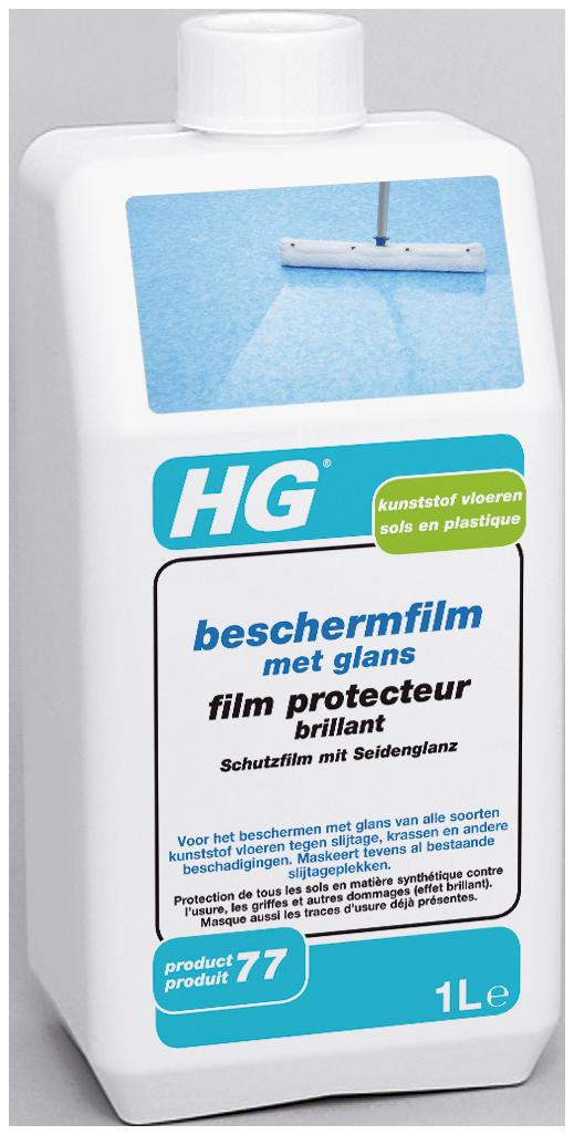 HG kunststof vloeren beschermfilm met glans (glanscoating) (