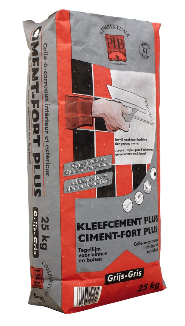 P.t.b.-kleefcement Plus 25kg Wit