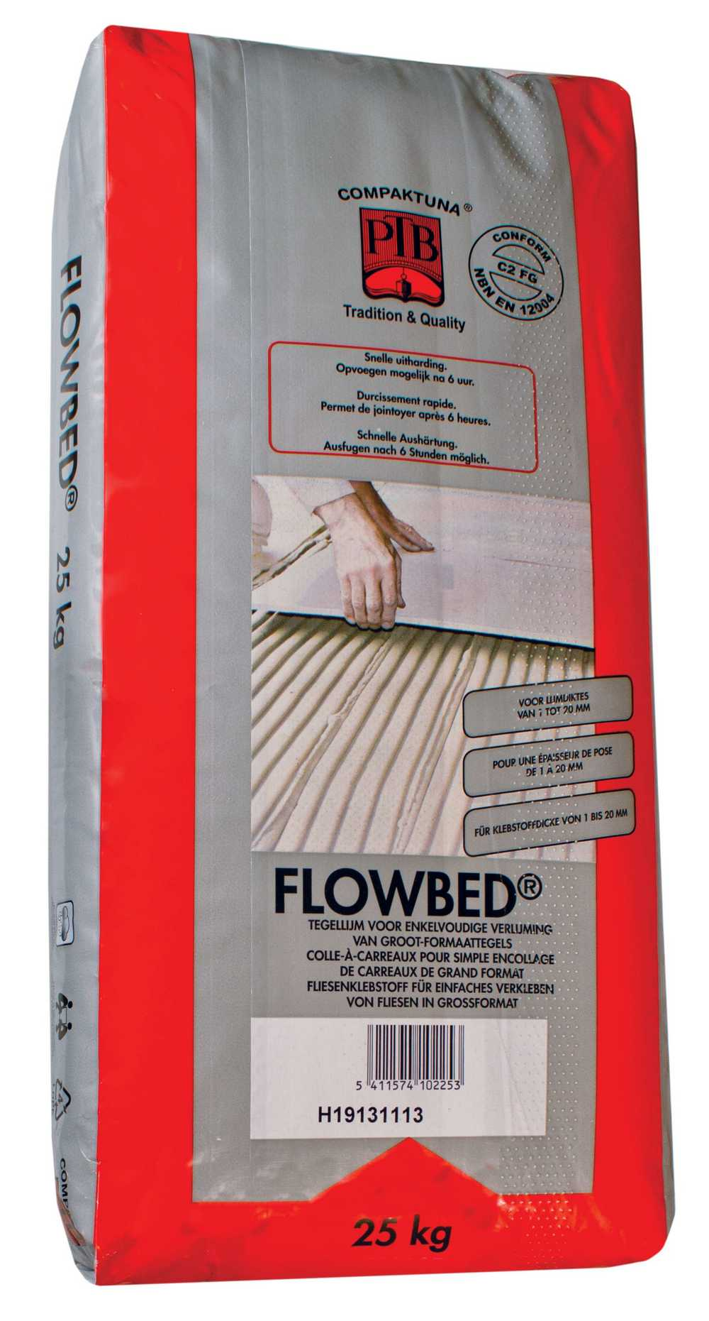 Flowbed - 25kg - Grijs