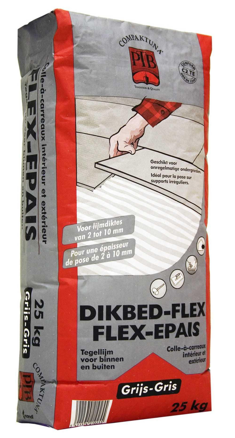 Dikbed-flex - 25kg - Grijs