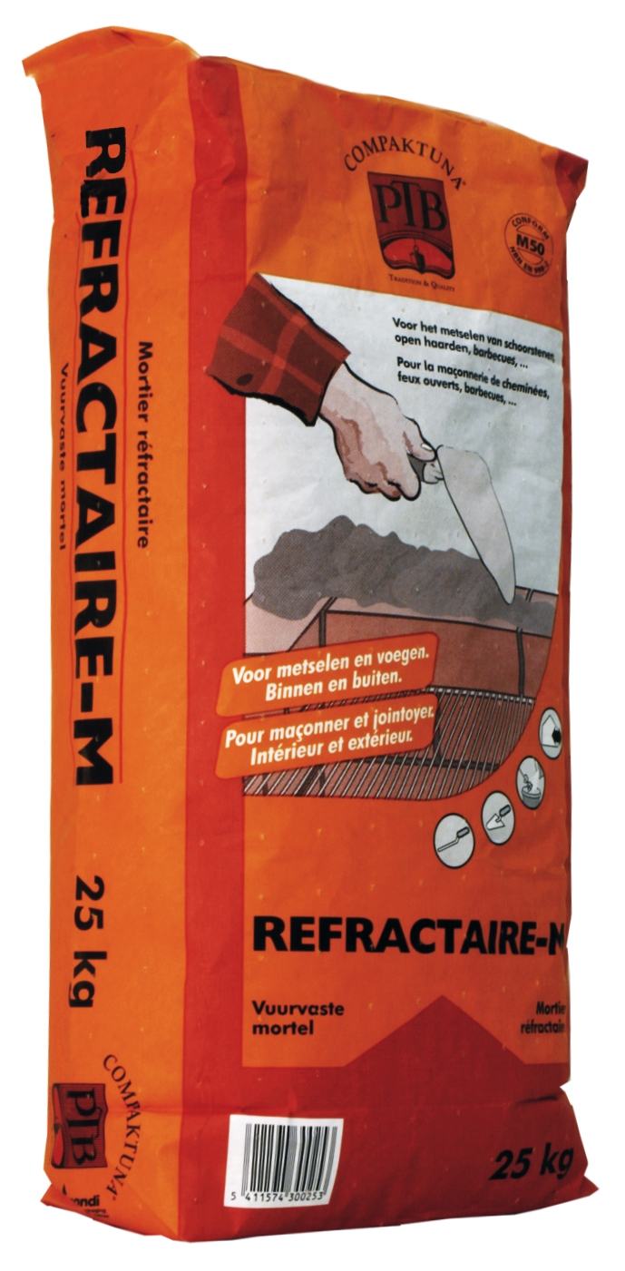 P.t.b.-refractaire-m 5kg Bruingrijs
