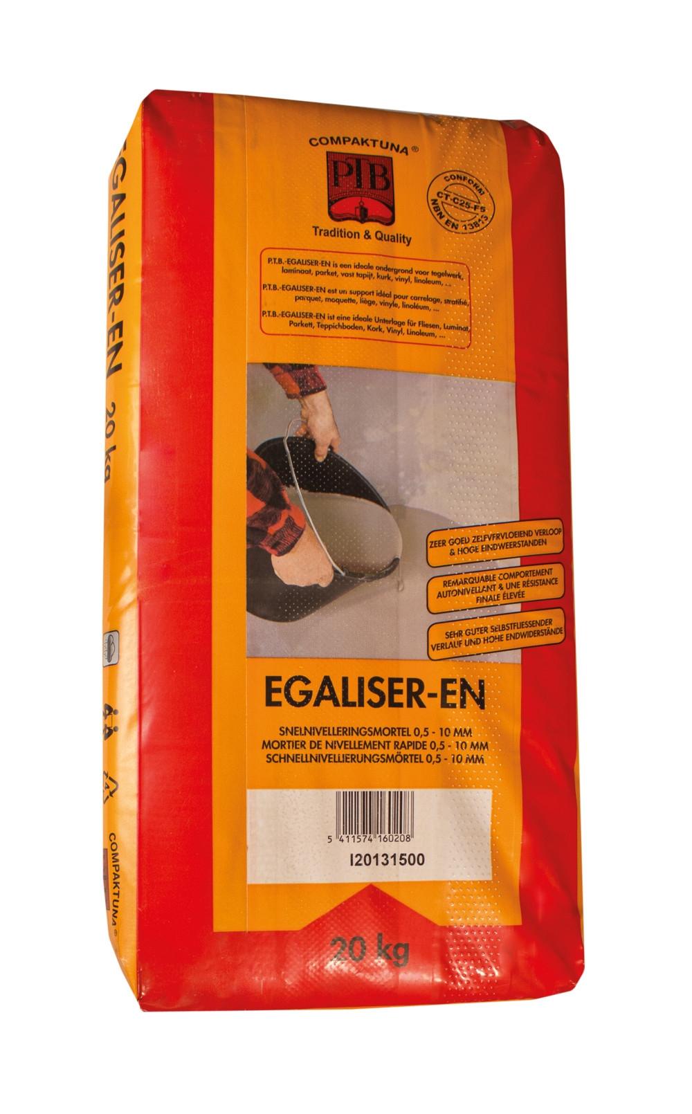 Egaliser-en - 20kg - Grijs