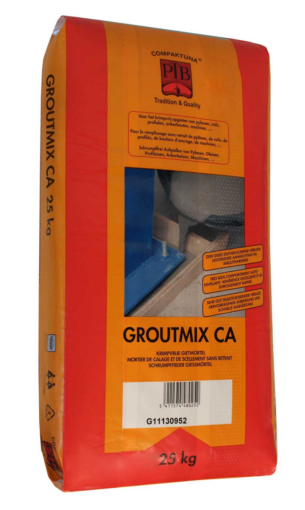 Groutmix CA - 25kg - Grijs (krimpvrije gietmortel)