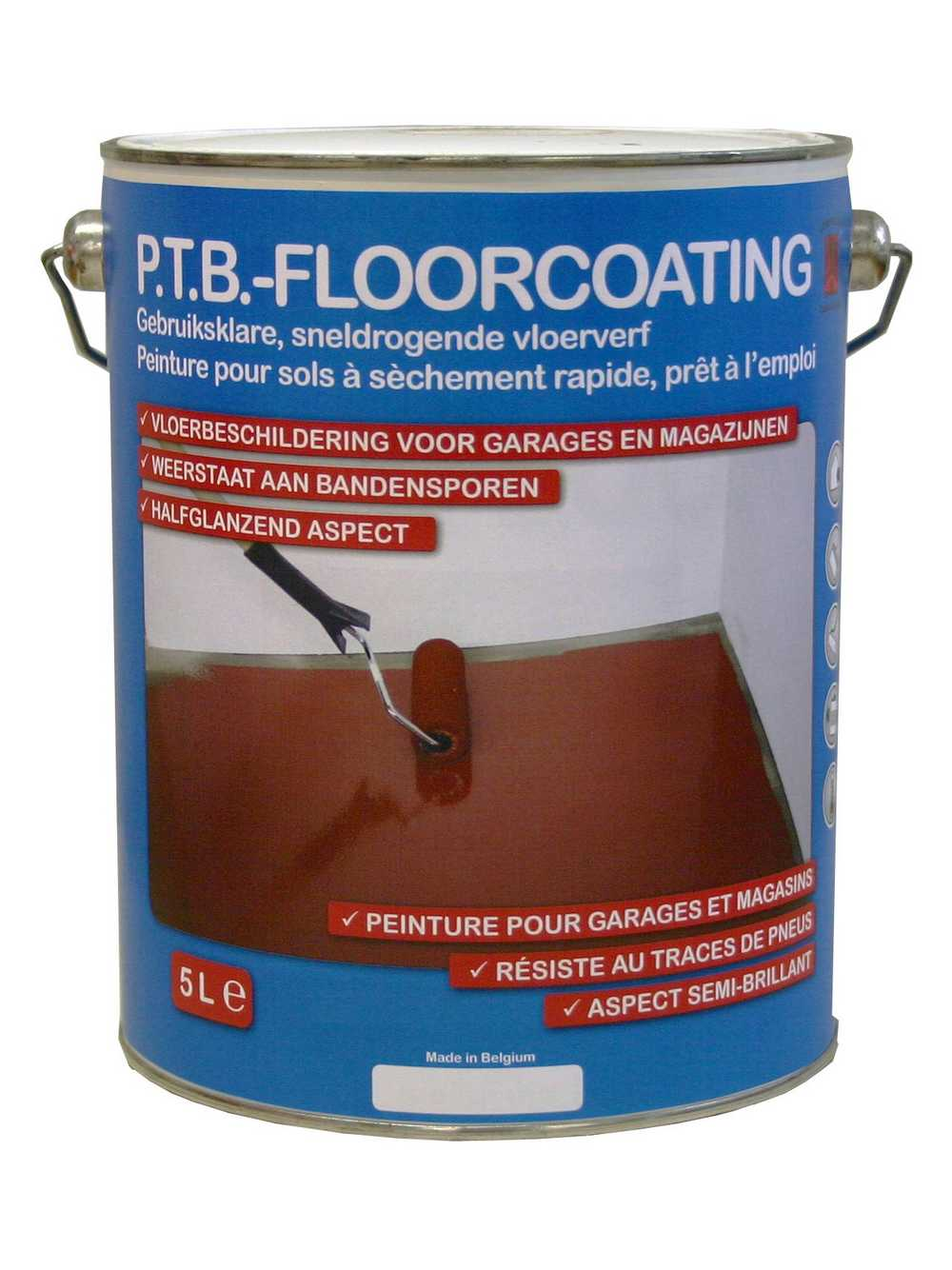 Kit P.t.b.-floorcoating -- Rood
