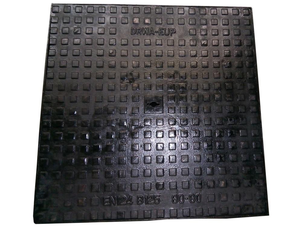 Gietijzer Putdeksel Zwaar Verkeer 12.5T - 80x80