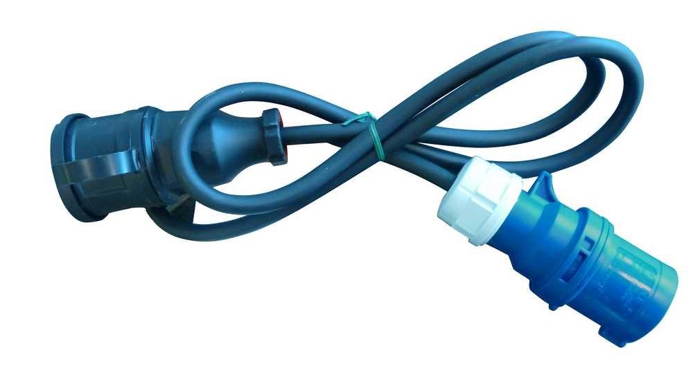 Verloopstekker hedi 230v/ 16a met 1.5m kabel (vrouw)