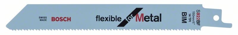 Reciprozaagblad S 922 BF Flexible for Metal 5x