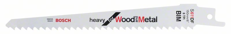Reciprozaagblad S 611 DF Heavy for Wood and Metal 5x