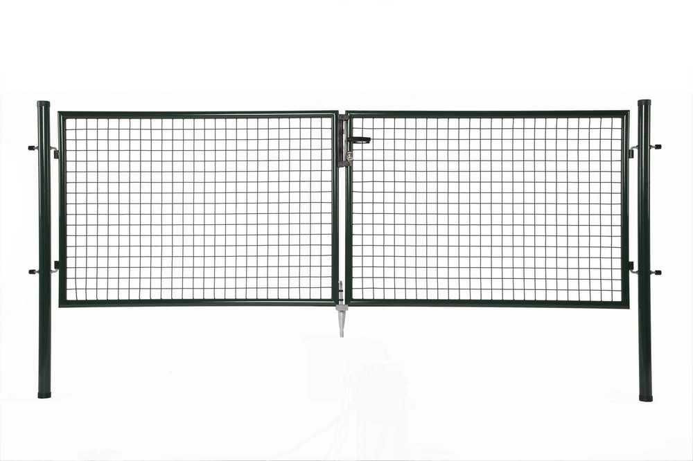 Dubbele poort H 100 x L 2x150cm RAL 6005 groen