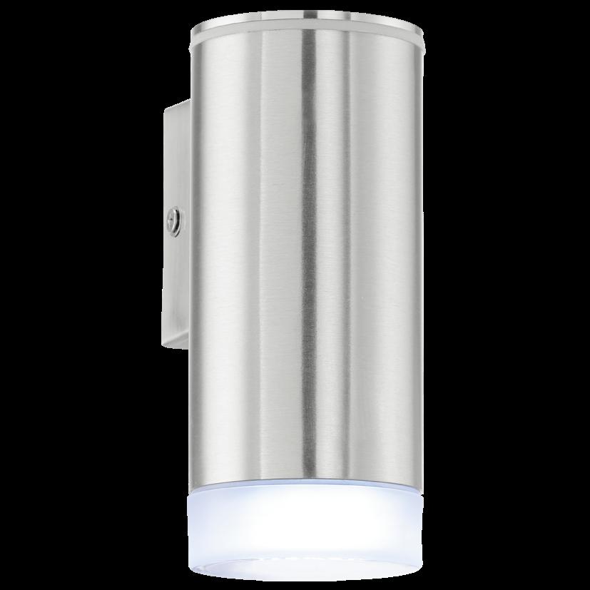 BUITEN-WANDLAMP/1 RVS/GESATINEERD 'RIGA-LED