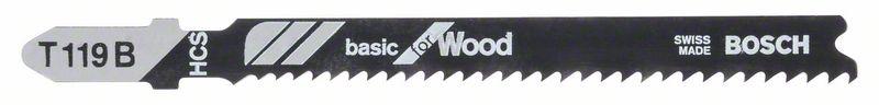 Decoupeerzaagblad T119 B Basic for Wood 5x