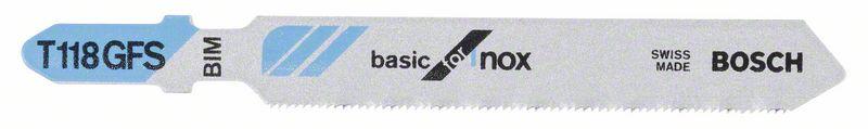 Decoupeerzaagblad T118 GFS Basic for Inox 5x
