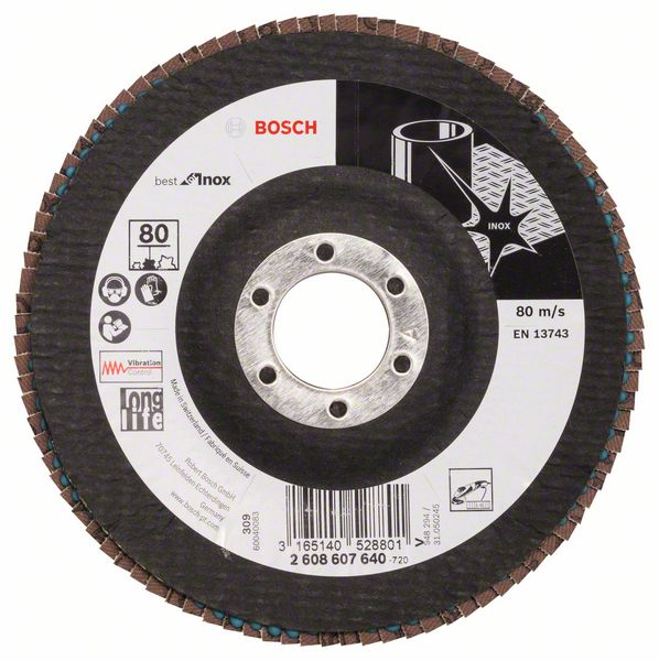 Schuren  (1 LAMELSCHIJF 125 X581 BEST INOX  80)