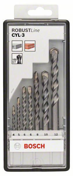 7-delige set betonboor Robust Line CYL-3, 4; 5; 6; 6; 8; 10;