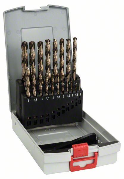 19-delige set metaalboor ProBox HSS-Co, DIN 338, 1-10 mm