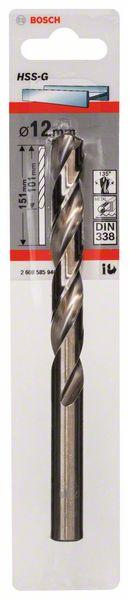 Metaalboor HSS-G, DIN 338, 12 x 101 x 151 mm