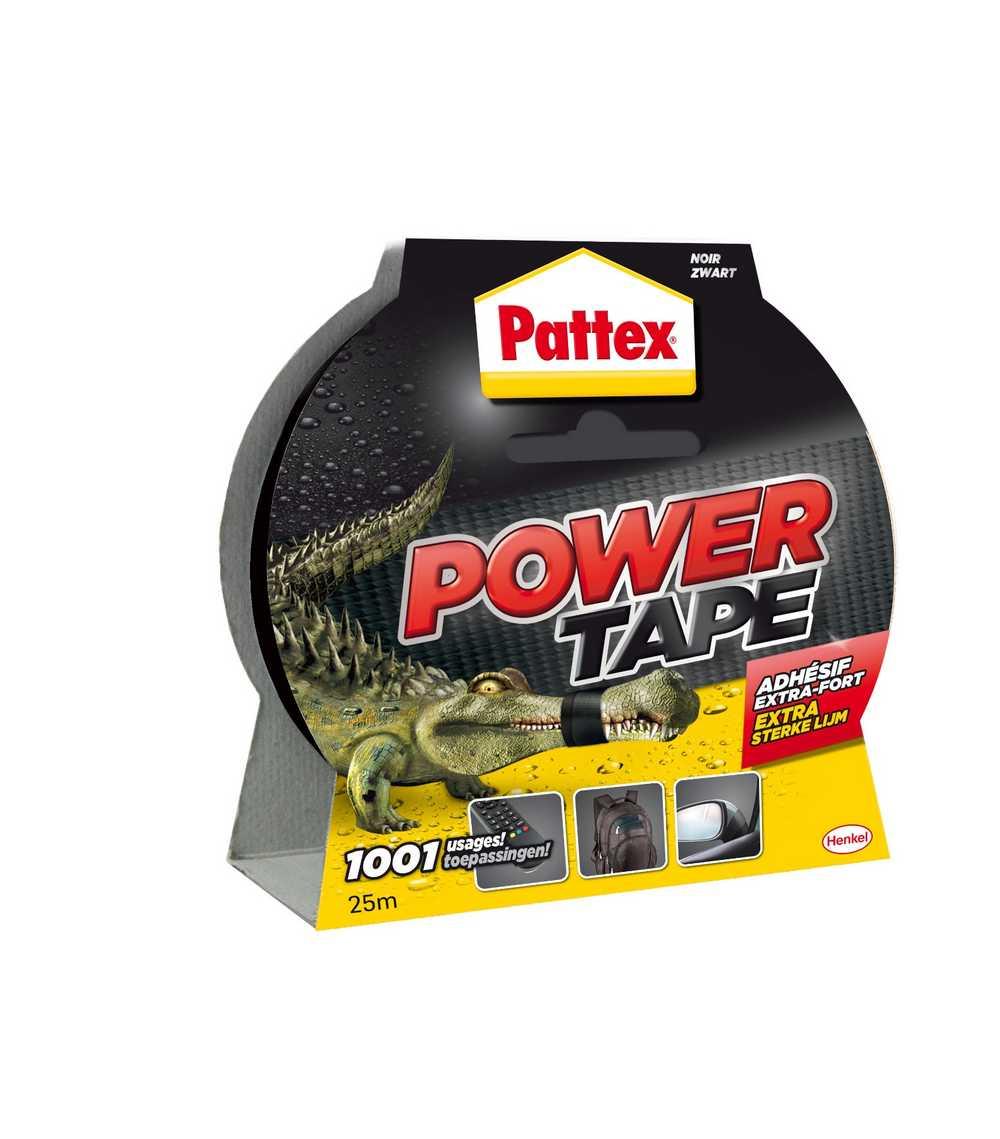 PATTEX POWER TAPE 25M ZWART BL