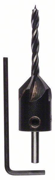 Houtspiraalboor met verzinkboor 4 x 40 x 70 mm