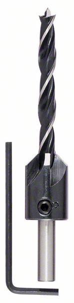 Houtspiraalboor met verzinkboor 7 x 60 x 105 mm