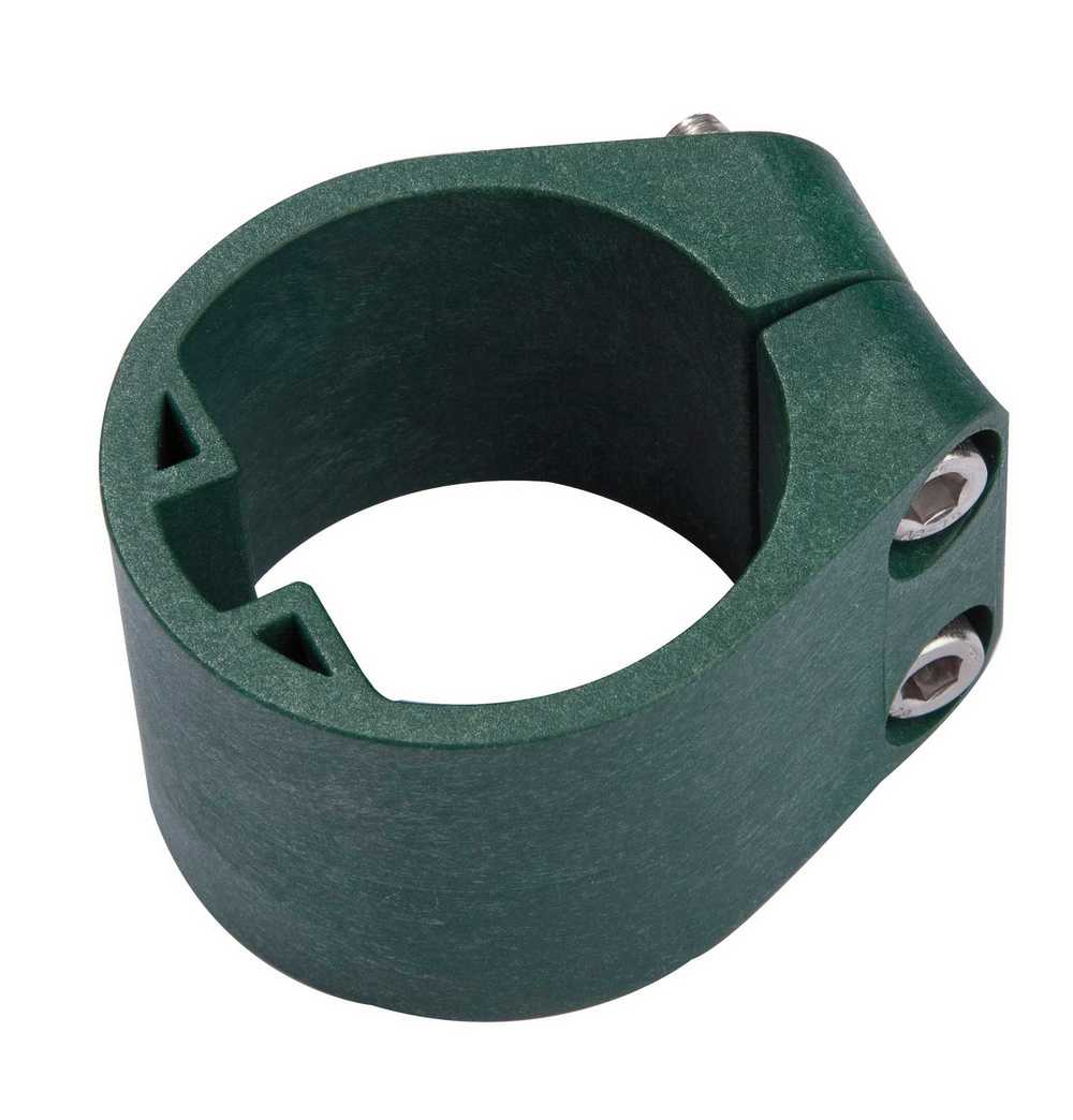 Midden/Eindklem plastiek profielpaal 48mm RAL 6005 groen