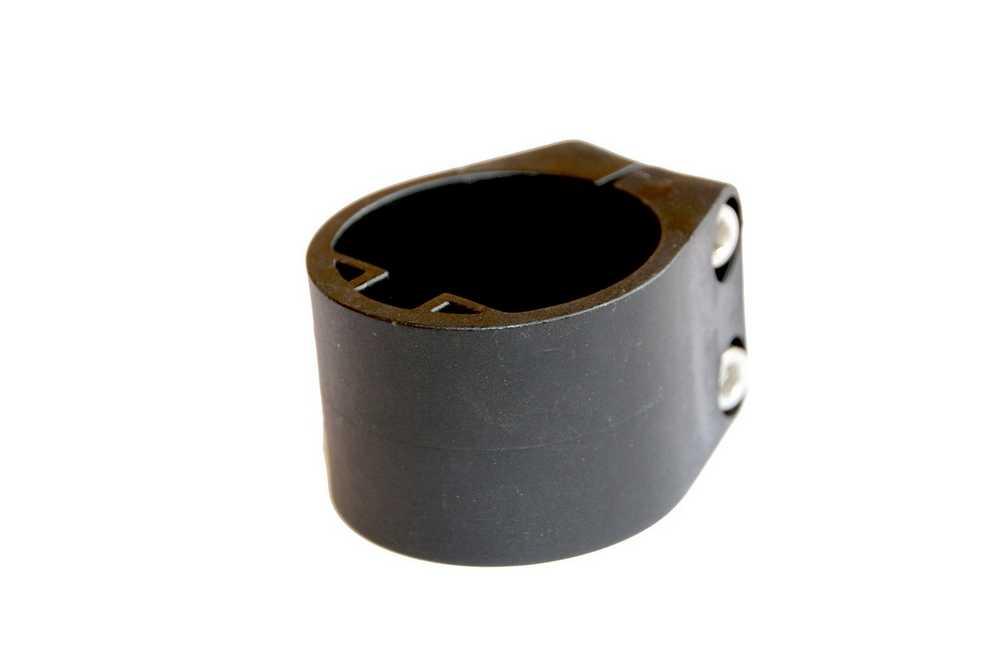 Midden/Eindklem plastiek profielpaal 48mm (6st) RAL 9005 zwa