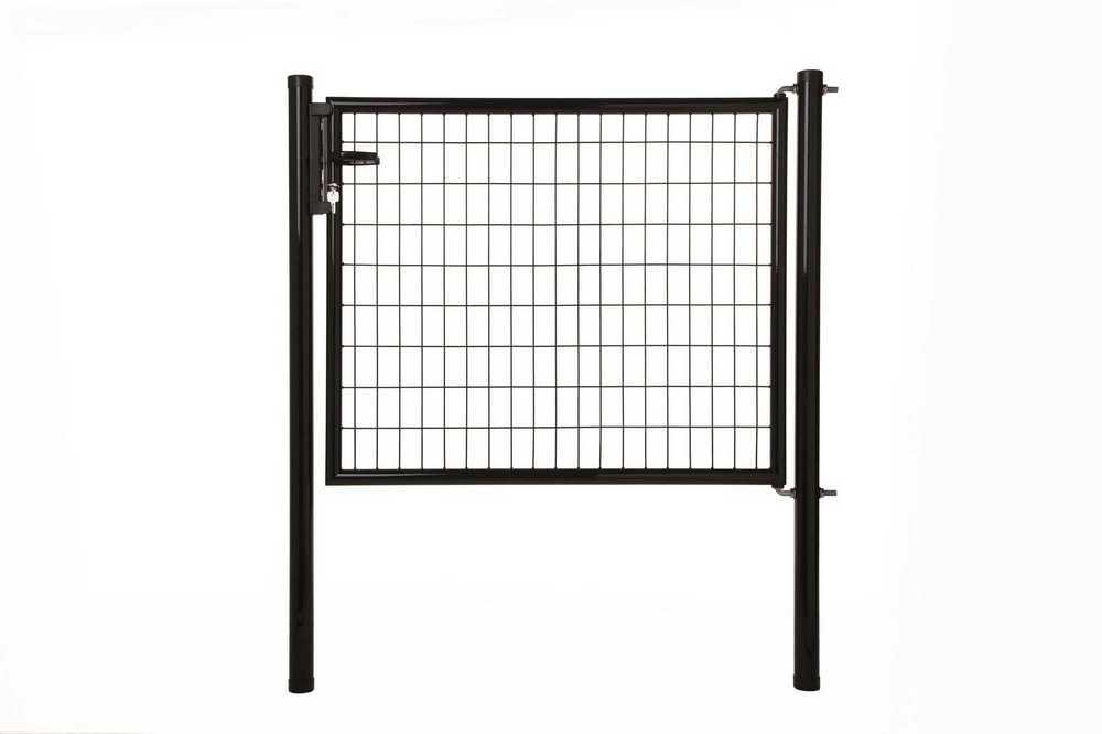 Napoli poort H 150 x L 125cm RAL 9005 zwart