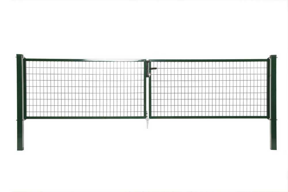 Napoli dubbele poort H 120 x L 2x200cm RAL 6005 groen
