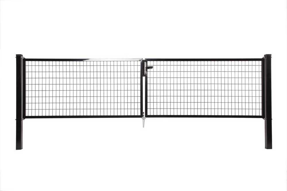Napoli dubbele poort H 150 x L 2x200cm RAL 9005 zwart