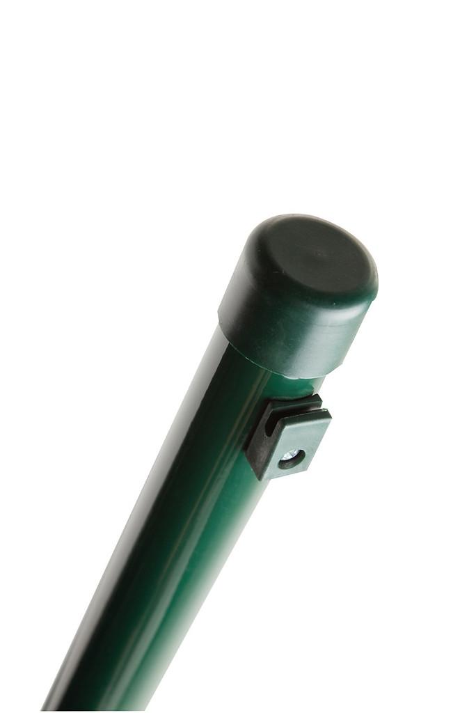 Ronde paal met spandraadhouders 40mm x 230cm RAL 6005 groen