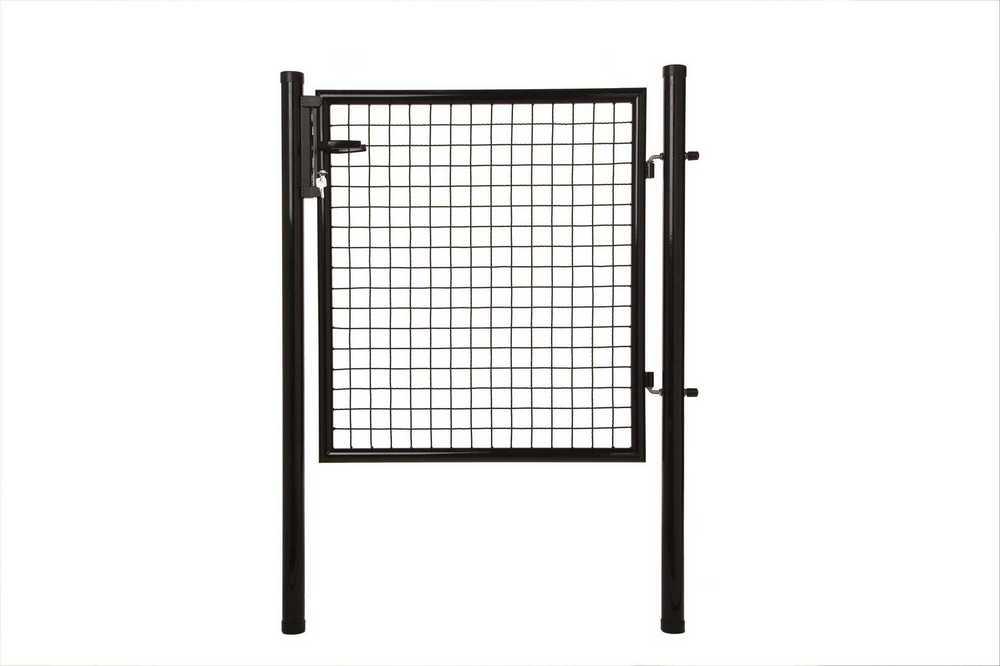 Poort H 100 x L 100cm RAL 9005 zwart