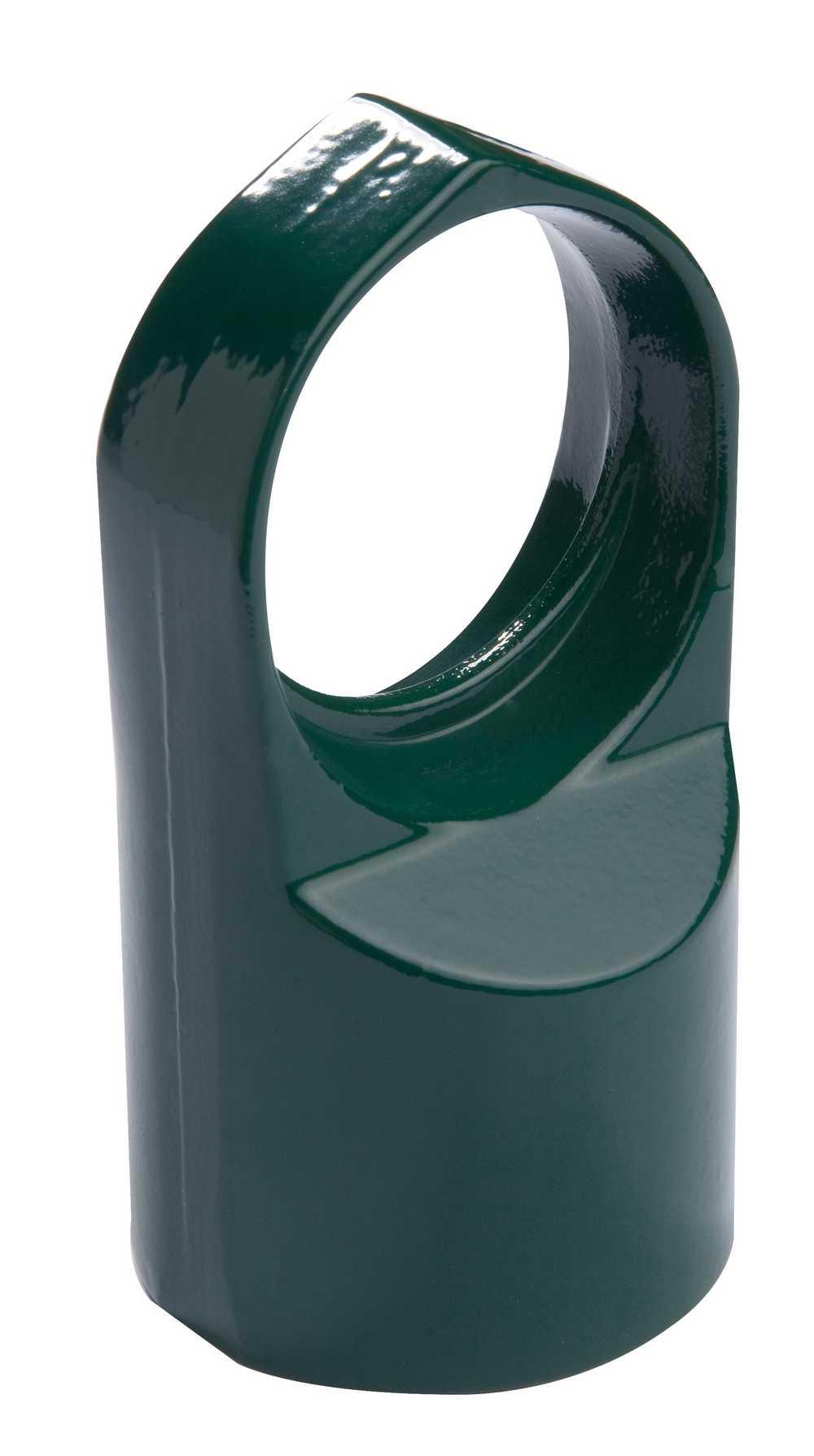Doorvoerkop bovenbuis 48/42mm Alu gelakt RAL 9005 zwart