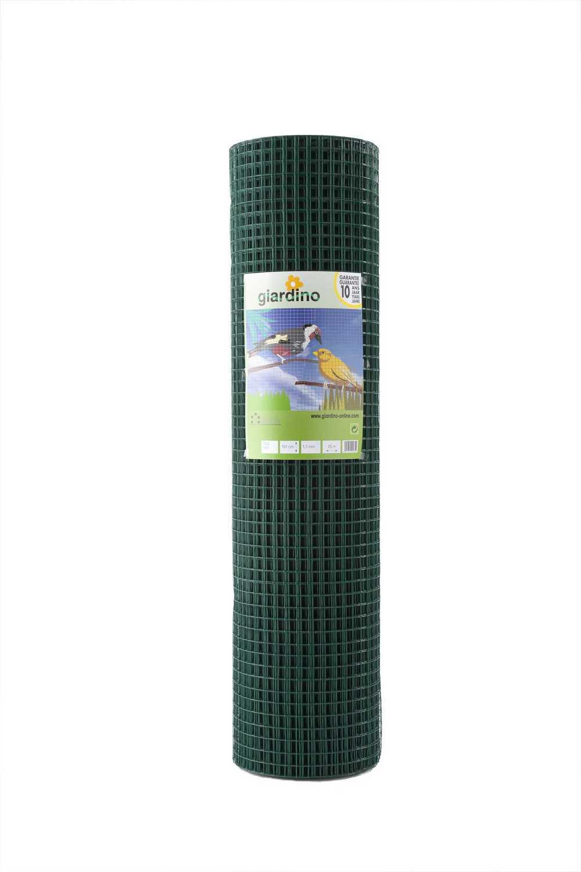 GIARDINO gel. gaas gepl. 12.7x0.9mm x 102cm x 10m RAL 6005 g