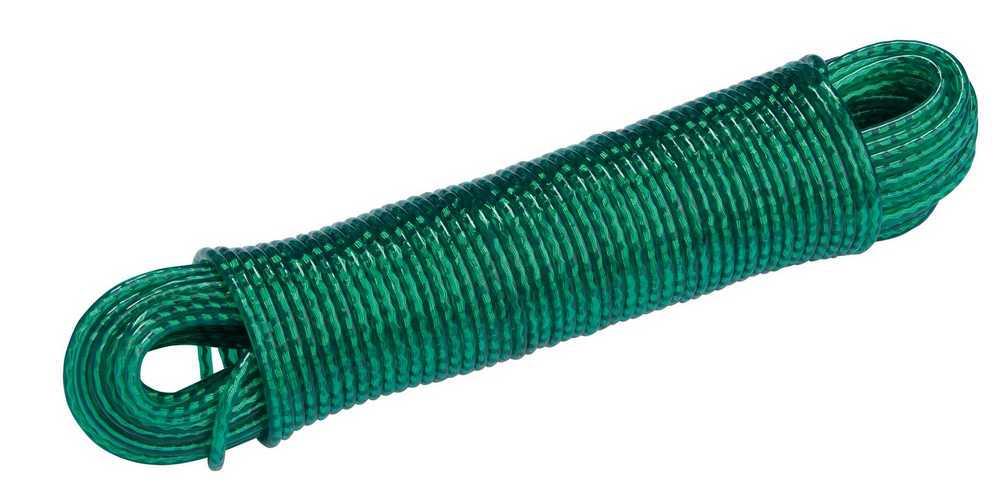 Waslijnkabel 3.8mm x 60m RAL 6005 groen
