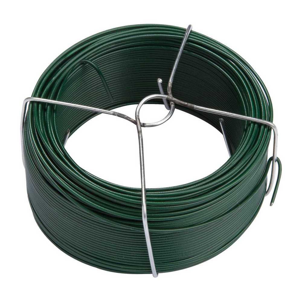 DIY plat gepl. draad op spin 50m RAL 6005 groen
