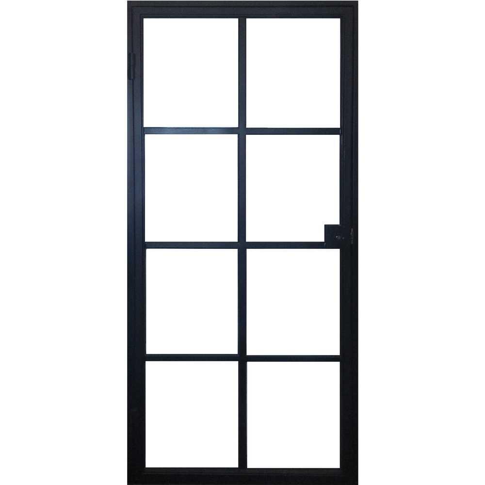 STALEN DEUR - Kader en deur 83cm - duwen rechts