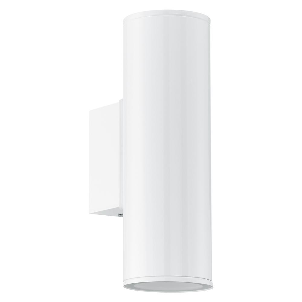 BUITEN-WANDLAMP/2 GU10-LED WIT 'RIGA'