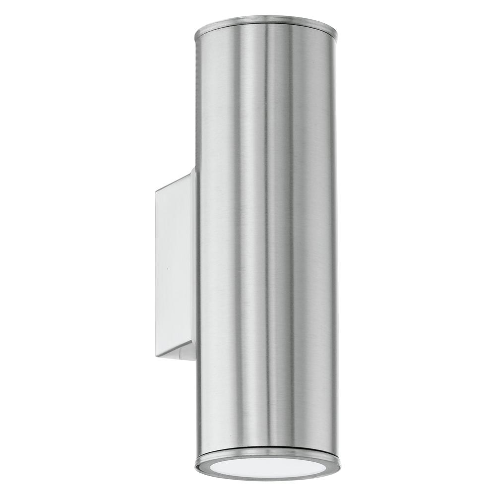 BUITEN-WANDLAMP/2 GU10-LED RVS 'RIGA'