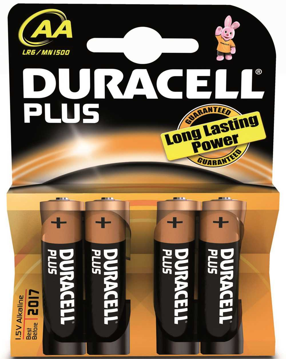 DURACELL ALK PLUS AA 1.5V 4ST