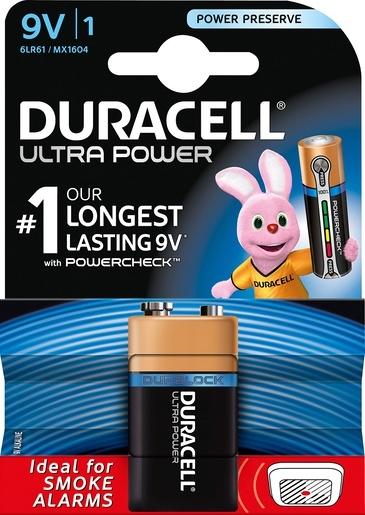 DURACELL ALK ULTRA E-BLOCK 9V 1ST