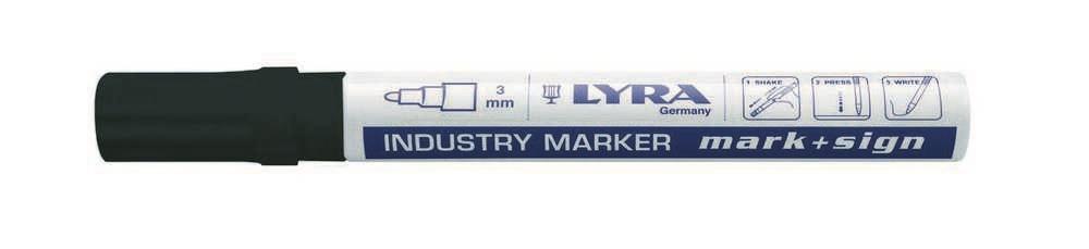 Lyra industriemarker lak zwart