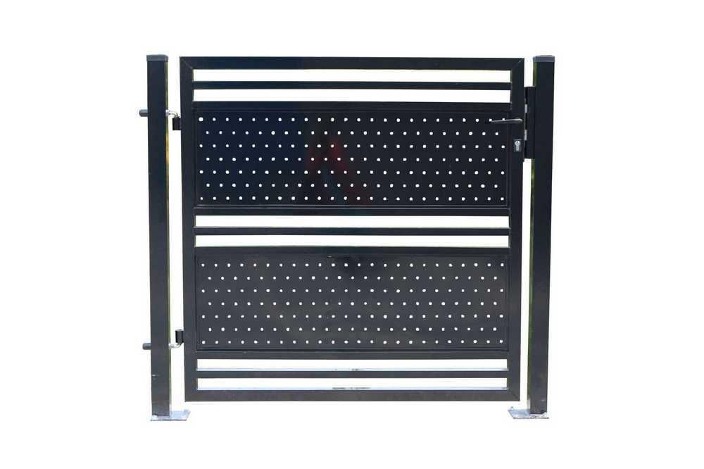 ALU poort Sicilia H 150 x L 125cm RAL 9005 zwart