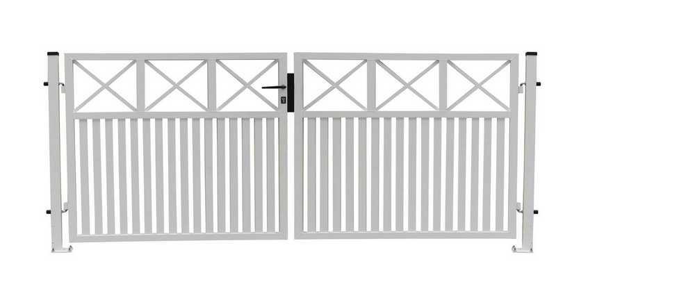 ALU dubbele poort Capri H 180 x L 2x150cm RAL 9010 wit