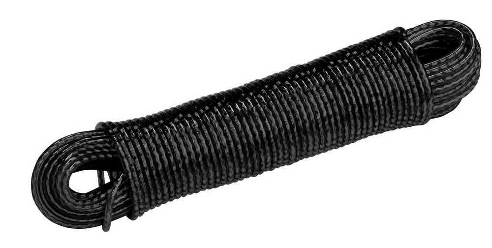 Waslijnkabel 3.8mm x 30m RAL 9005 zwart