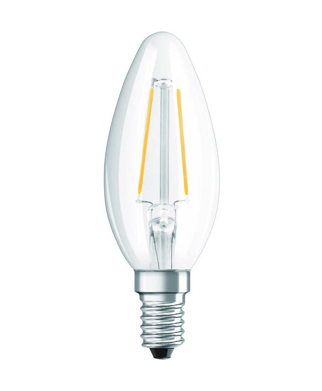 LED RETROF CLB25 E14 2W WW HELD FIL