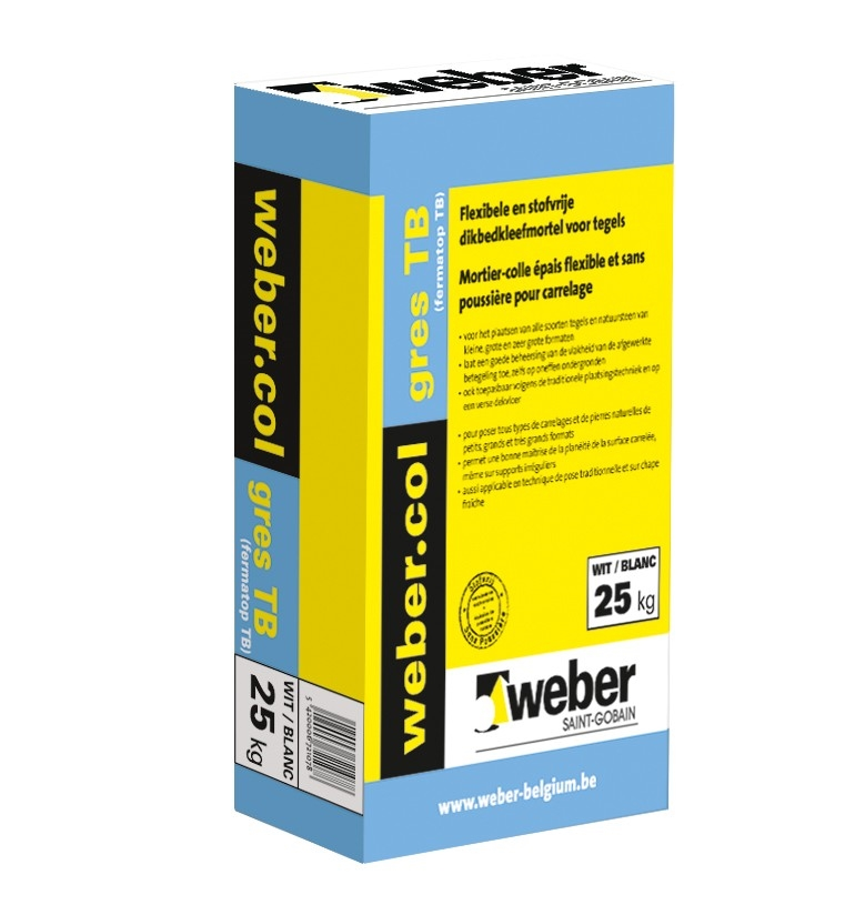 webercol gres TB  wit 25 kg