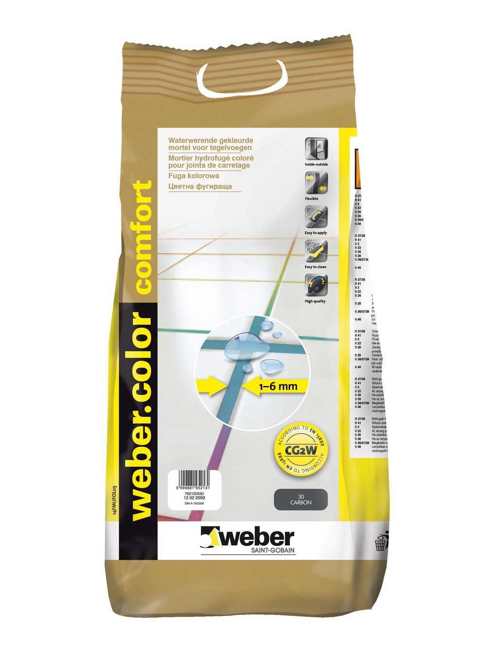 webercolor comfort cement 5 kg C910