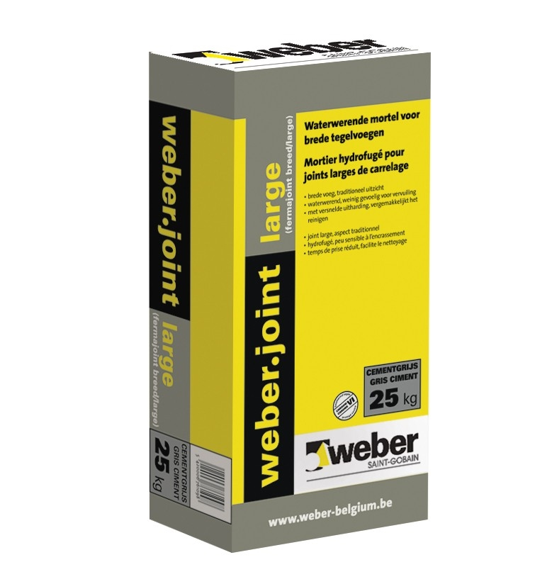 weberjoint large antraciet - 25 kg - (48/pal)