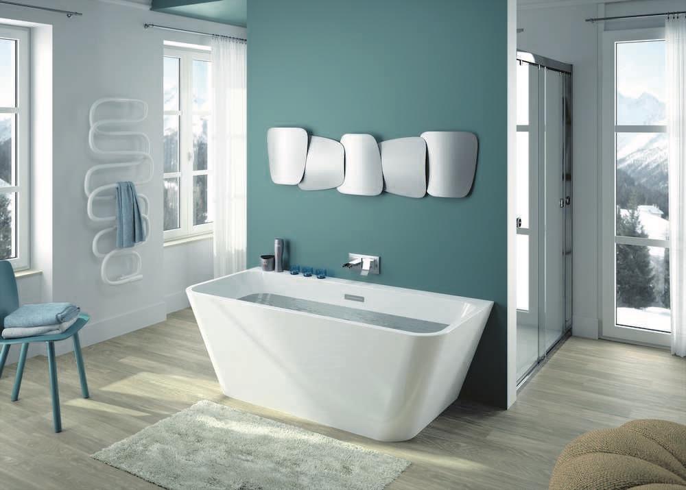 NUDEA Vrijstaand bad - glanzend - 170x75