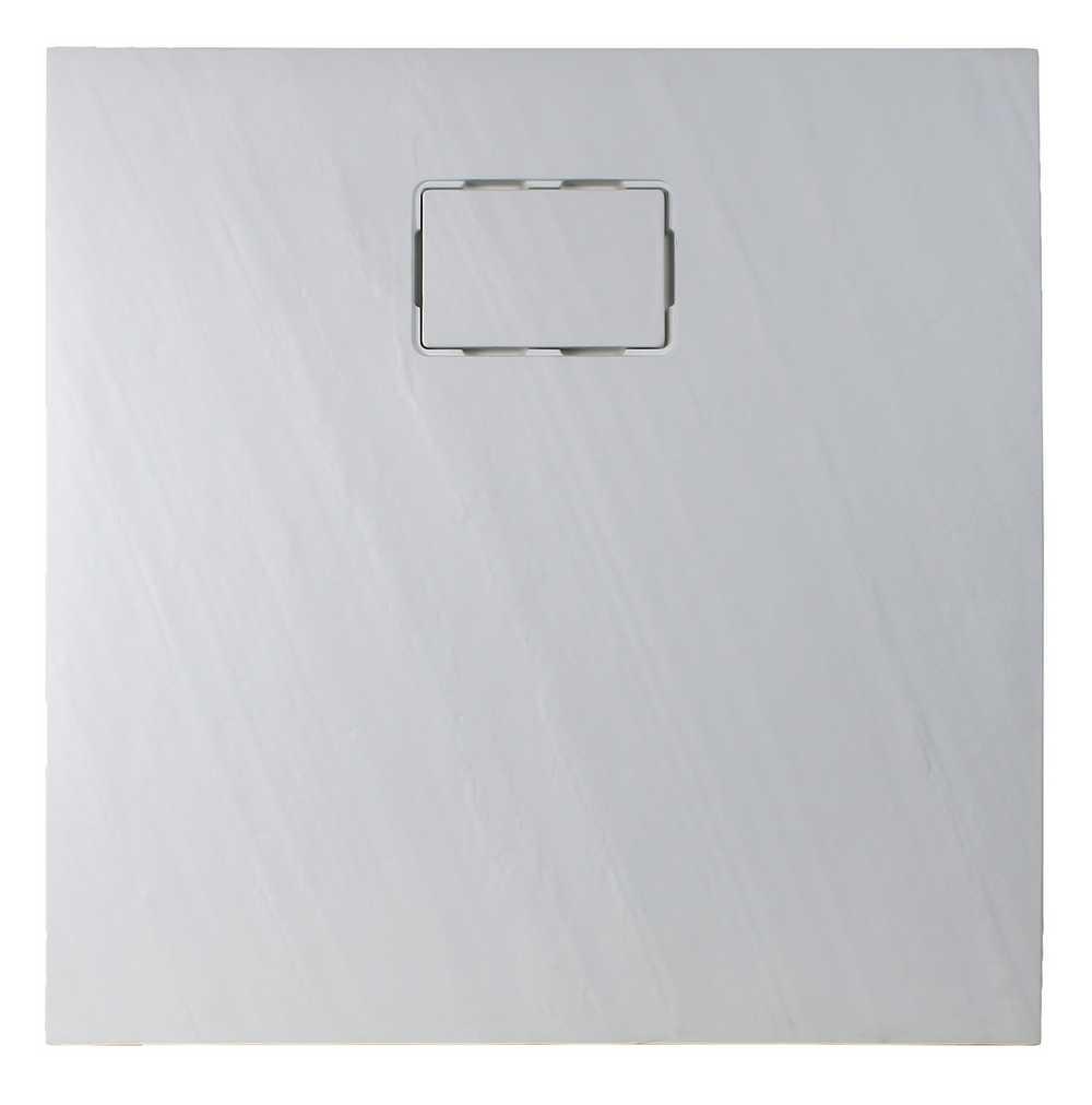 ROCKSTONE VIERKANT Wit -  90 x 90 x 3,5 cm